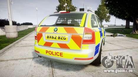 Skoda Octavia vRS Comb Metropolitan Police [ELS] für GTA 4 hinten links Ansicht