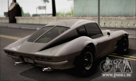 Invetero Coquette Classic v1.1 pour GTA San Andreas sur la vue arrière gauche