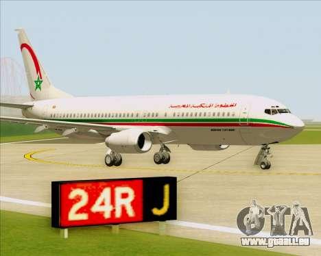 Boeing 737-8B6 Royal Air Maroc (RAM) für GTA San Andreas Seitenansicht