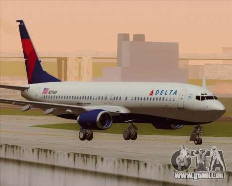 Boeing 737-800 Delta Airlines für GTA San Andreas Rückansicht