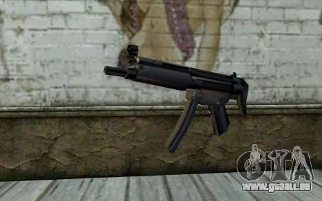 Retextured MP5 pour GTA San Andreas