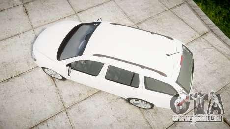 Skoda Octavia vRS Combi Unmarked Police [ELS] für GTA 4 rechte Ansicht