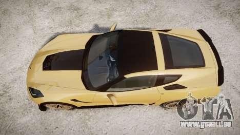 Chevrolet Corvette Z06 2015 TireMi5 pour GTA 4 est un droit