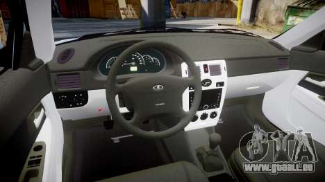 ВАЗ-Lada 2170 Priora Ampoule pour GTA 4 est une vue de l'intérieur