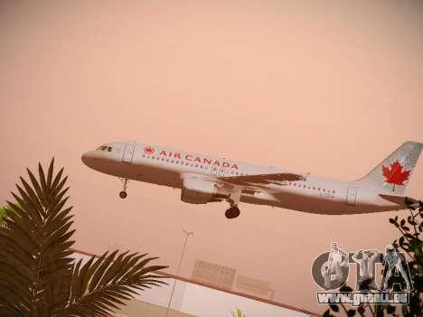 Airbus A320-214 Air Canada für GTA San Andreas Seitenansicht