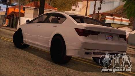 GTA 5 Ubermacht Sport für GTA San Andreas linke Ansicht