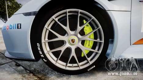 Porsche 918 Spyder 2014 Weissach pour GTA 4 Vue arrière