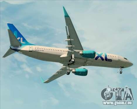 Boeing 737-800 XL Airways für GTA San Andreas Unteransicht