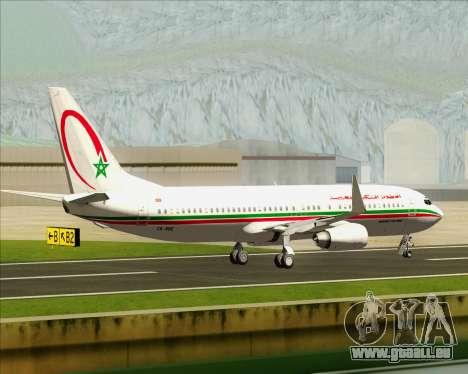 Boeing 737-8B6 Royal Air Maroc (RAM) für GTA San Andreas Innenansicht