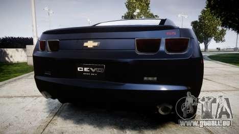 Chevrolet Camaro SS [ELS] Unmarked interceptors für GTA 4 hinten links Ansicht