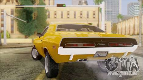 Dodge Challenger 1971 pour GTA San Andreas laissé vue