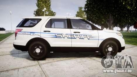 Ford Explorer 2013 [ELS] Liberty County Sheriff für GTA 4 linke Ansicht