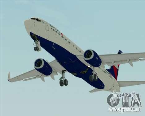 Boeing 737-800 Delta Airlines für GTA San Andreas Innenansicht
