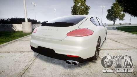 Porsche Panamera GTS 2014 pour GTA 4 Vue arrière de la gauche