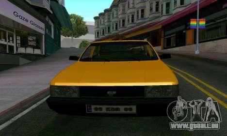 Tofas Sahin Taxi pour GTA San Andreas vue intérieure