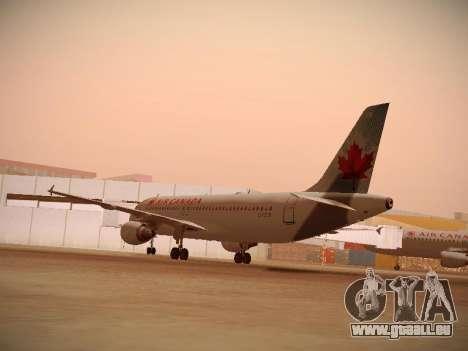 Airbus A320-214 Air Canada für GTA San Andreas rechten Ansicht
