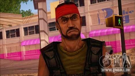 Guerilla from Counter Strike Condition Zero pour GTA San Andreas troisième écran