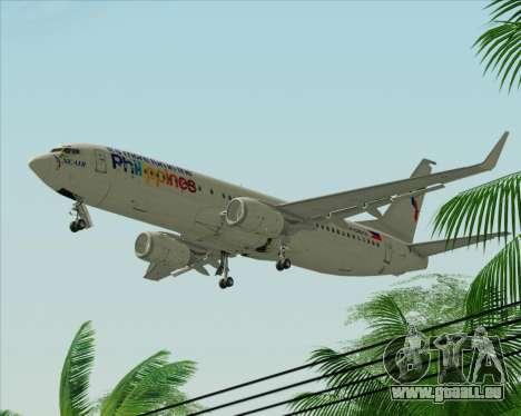 Boeing 737-800 South East Asian Airlines (SEAIR) pour GTA San Andreas sur la vue arrière gauche