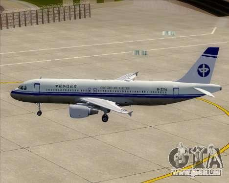 Airbus A320-200 CNAC-Zhejiang Airlines für GTA San Andreas