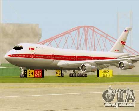 Boeing 747-100 Trans World Airlines (TWA) für GTA San Andreas linke Ansicht