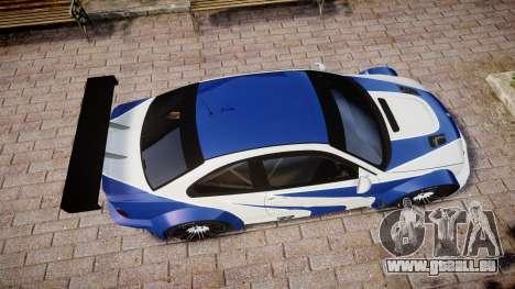 BMW M3 E46 GTR Most Wanted plate NFS Carbon pour GTA 4 est un droit