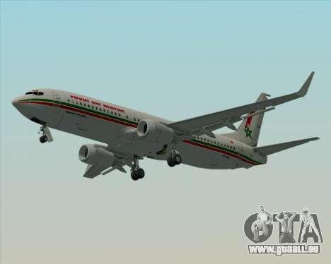Boeing 737-8B6 Royal Air Maroc (RAM) für GTA San Andreas obere Ansicht