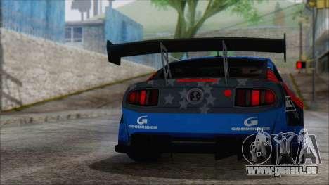 Ford Shelby GT500 2010 pour GTA San Andreas laissé vue