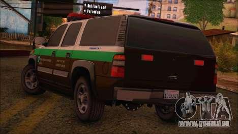 Tierra Robada Armed Forces Border Patrol pour GTA San Andreas laissé vue
