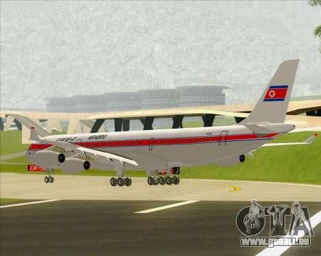 Airbus A340-300 Air Koryo für GTA San Andreas Rückansicht