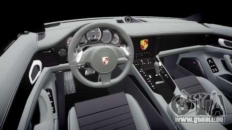 Porsche Panamera GTS 2014 pour GTA 4 est une vue de l'intérieur