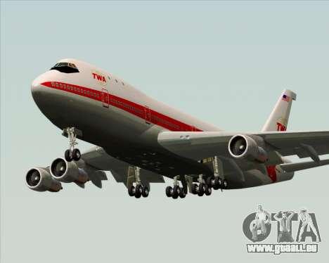Boeing 747-100 Trans World Airlines (TWA) pour GTA San Andreas moteur