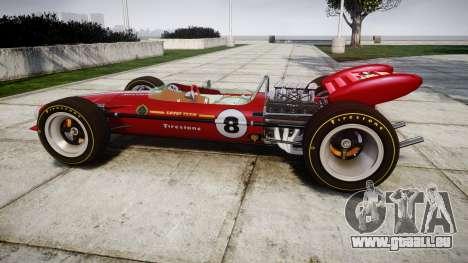 Lotus 49 1967 red pour GTA 4 est une gauche