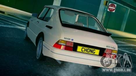 Saab 900 Coupe Turbo pour GTA 4 Vue arrière de la gauche