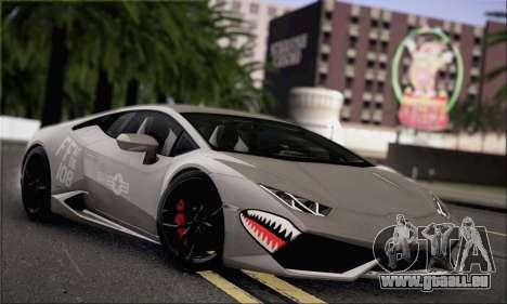 Lamborghini Huracan LP610-4 2015 Rim für GTA San Andreas Innenansicht