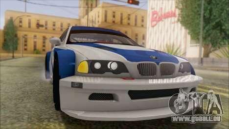 BMW M3 E46 GTR für GTA San Andreas rechten Ansicht