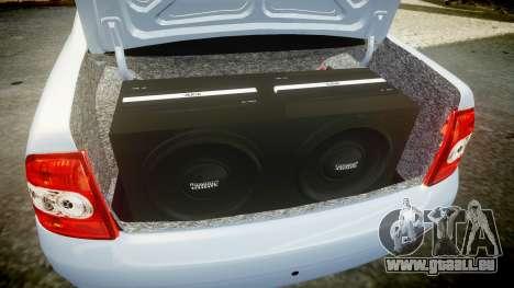 ВАЗ-Lada 2170 Priora Ampoule pour GTA 4 vue de dessus