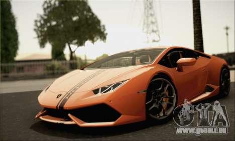 Lamborghini Huracan LP610-4 2015 Rim für GTA San Andreas zurück linke Ansicht