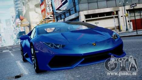 Lamborghini Huracan LP610-4 from Horizon 2 pour GTA 4 est une gauche