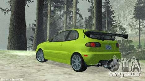 Daewoo Lanos Sport NOUS 2001 pour GTA San Andreas vue intérieure