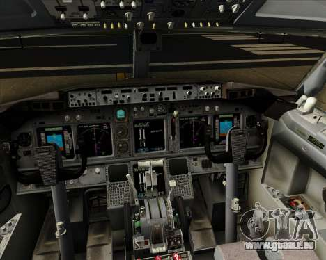 Boeing 737-800 XL Airways für GTA San Andreas Innen