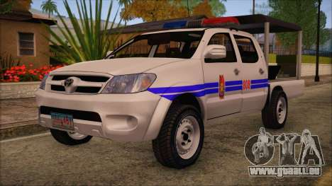 Toyota HiLux Philippine Police Car 2010 für GTA San Andreas