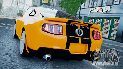 Ford Shelby Mustang GT500 2011 v1.0 pour GTA 4 est une gauche