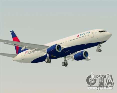 Boeing 737-800 Delta Airlines für GTA San Andreas rechten Ansicht