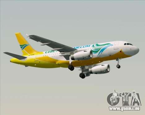 Airbus A319-100 Cebu Pacific Air für GTA San Andreas obere Ansicht