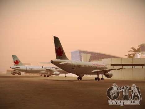 Airbus A320-214 Air Canada für GTA San Andreas zurück linke Ansicht
