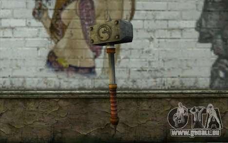 Shao Kahn Hammer From Mortal Kombat 9 für GTA San Andreas