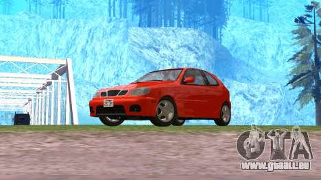 Daewoo Lanos Sport NOUS 2001 pour GTA San Andreas vue de droite