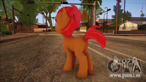 Babs Seed from My Little Pony pour GTA San Andreas deuxième écran