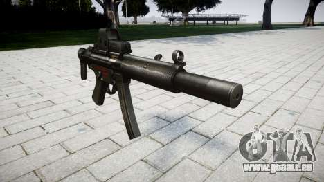 Pistolet MP5SD EOTHS CS pour GTA 4