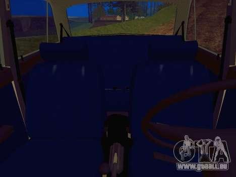 VAZ-2106 Polizei für GTA San Andreas Rückansicht